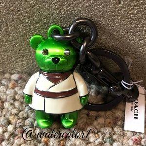 🆕  Coach x Star Wars Ltd Ed Yoda Bear Key Fob